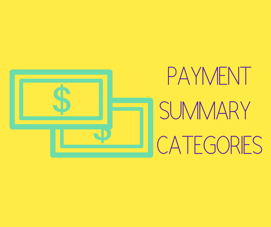 Payment Summaries: Lump Sum Payment Categories
